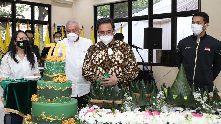 Tepat pada Rabu (5/5/21) kemarin, Persatuan Bulutangkis Seluruh Indonesia (PBSI) genap berusia 70 tahun. Copyright: © Humas PBSI