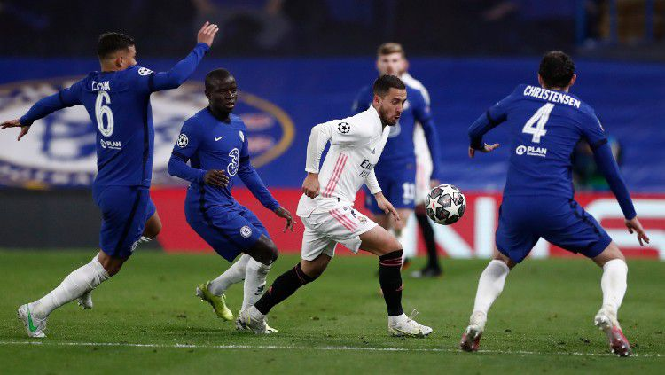 Eden Hazard di laga Chelsea vs Real Madrid. Copyright: © twitter.com/realmadrid