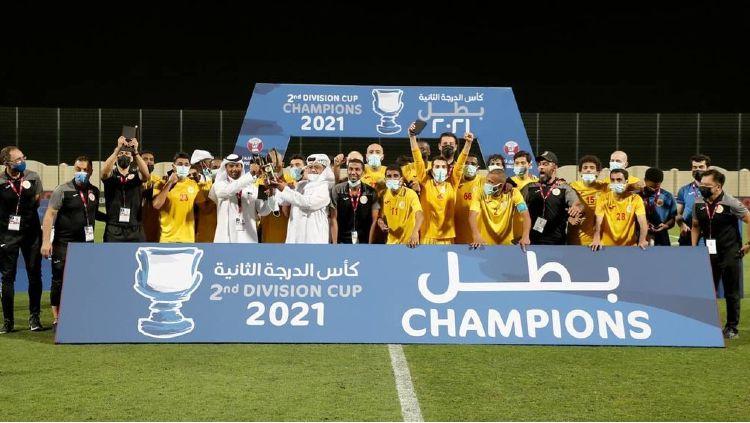 Klub Al Mesaimeer SC Saat Menjuarai Liga Qatar 20/21 Copyright: © instagram.com/mesaimeerclub/