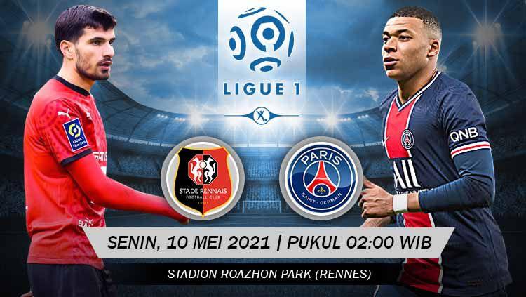 Berikut prediksi Ligue 1 Prancis Stade Rennais vs Paris Saint-Germain. Copyright: © Grafis:Yanto/Indosport.com