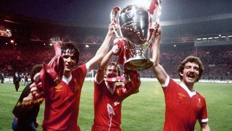 Pemain Liverpool bersuka cita usai menjuarai Liga Champions, 10 Mei 1978. Copyright: © This Is Anfield