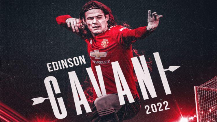 Edinson Cavani Perpanjang Kontrak di Manchester United Copyright: © twitter.com/ManUtd