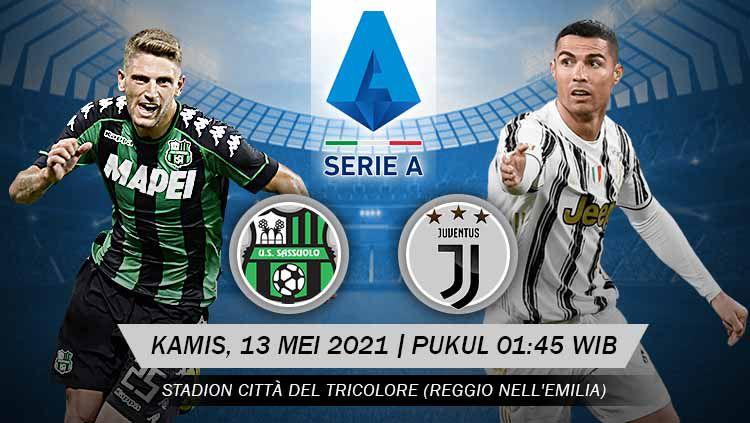 Pertandingan Sassuolo vs Juventus (Serie A). Copyright: © Grafis:Yanto/Indosport.com
