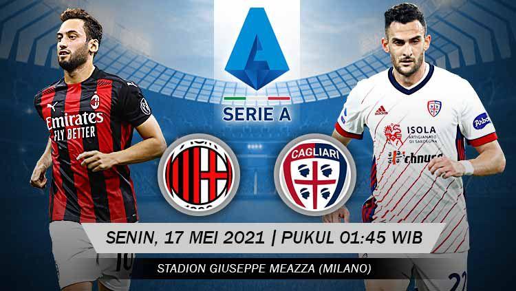 pertandingan AC Milan vs Cagliari (Serie A). Copyright: © Grafis:Yanto/Indosport.com
