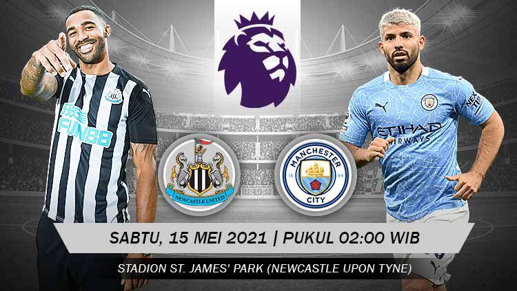 Pertandingan Newcastle United vs Manchester City (Liga Primer Inggris) Copyright: © Grafis:Yanto/Indosport.com