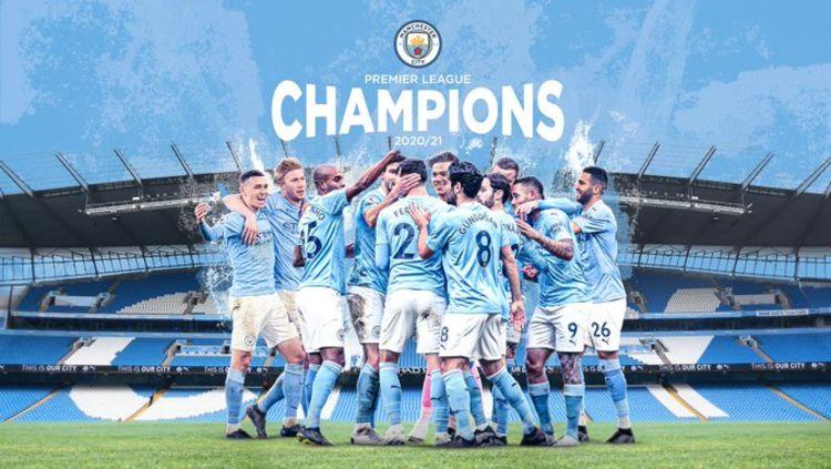Manchester City Resmi Juara Liga Inggris 20/21 Copyright: © twitter.com/mancity