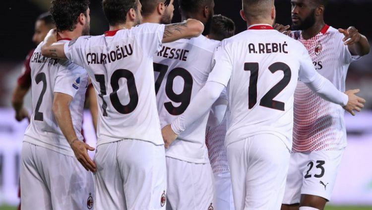 AC Milan sukses melibas tuan rumah Torino 7-0 dalam lanjutan pekan ke-36 Liga Italia 2020-2021, Kamis (13/05/21) dini hari WIB. Copyright: © Jonathan Moscrop/Getty Images