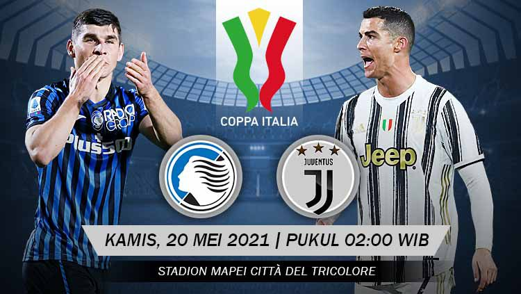 Prediksi pertandingan antara Atalanta vs Juventus (Coppa Italia). Copyright: © Grafis:Yanto/Indosport.com