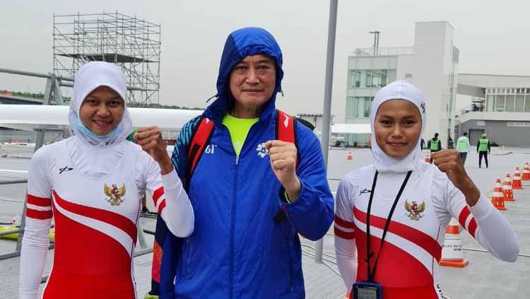 Pedayung putri Mutiara Rahma Putri/Melani Putri meraih tiket menuju Olimpiade Tokyo. Copyright: © NOC