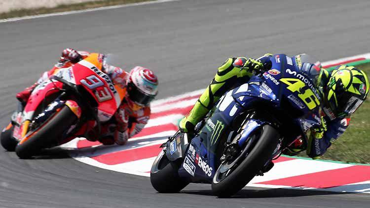 Marc Marquez dan Valentino Rossi Copyright: © Urbanandsport/NurPhoto via Getty Images