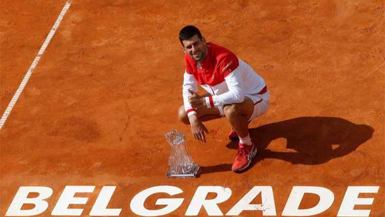 Sukses lewati Roger Federer, petenis Serbia, Novak Djokovic ciptakan rekor yang tidak mungkin dilewati Rafael Nadal usai mencapai perempat final Prancis Terbuka 2021. Copyright: © twitter@SerbiaOpen2021