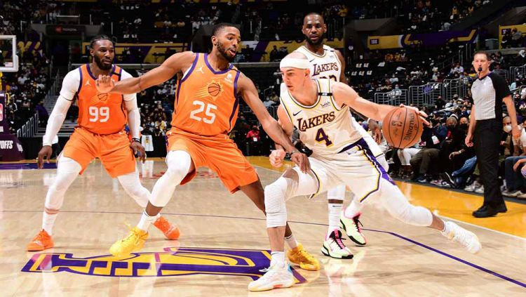 Pertandingan antara Adam Pantozzi/NBAE via Getty Images. Copyright: © Adam Pantozzi/NBAE via Getty Images