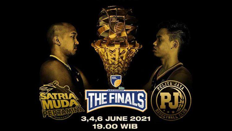 Final IBL 2021 antara Satria Muda Pertamina Jakarta vs Pelita Jaya Bakrie Jakarta! Copyright: © Twitter@IBLindonesia