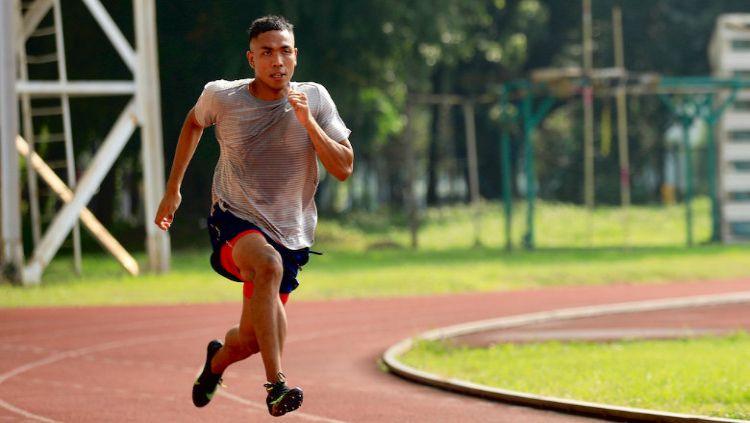 Sprinter nasional, Lalu Muhammad Zohri. Copyright: © Media NOC Indonesia