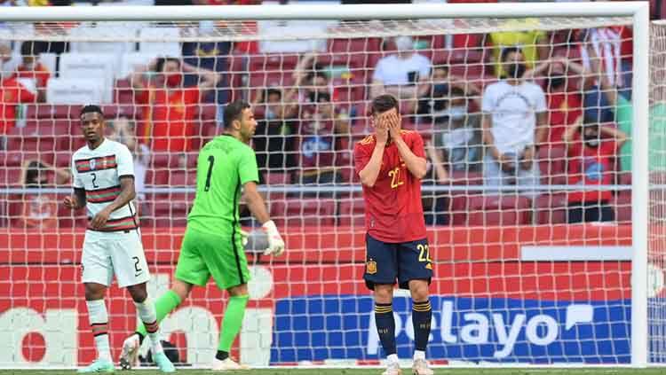 Peluang Pablo Sarabia di laga Spanyol vs Portugal. Copyright: © David Ramos/Getty Images