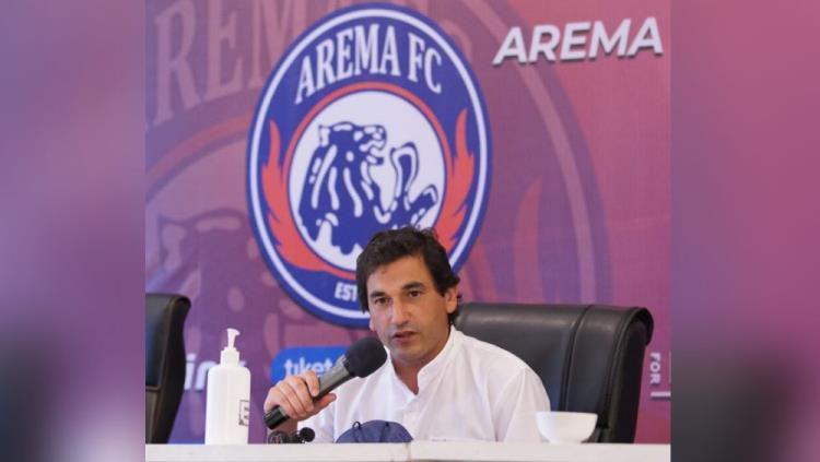 Pelatih Arema FC, Eduardo Almeida. Copyright: © Media Officer Arema
