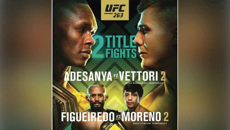 Dua perebutan gelar juara di UFC 263. Copyright: © Instagram@ufc