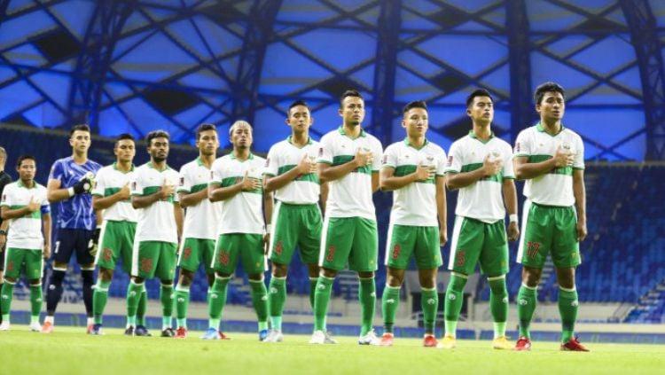 Timnas Indonesia bersiap meladeni Uni Emirat Arab di laga pamungkas kualifikasi Piala Dunia 2022. Copyright: © PSSI