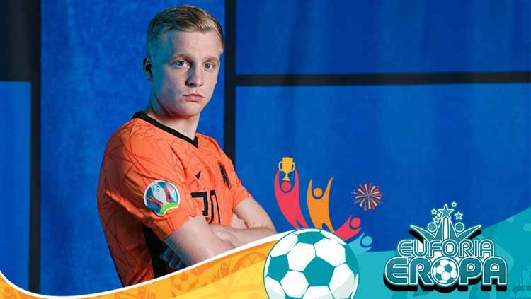 Donny van de Beek, pemain Timnas Belanda. Copyright: © Alexander Scheuber - UEFA/UEFA via Getty Images