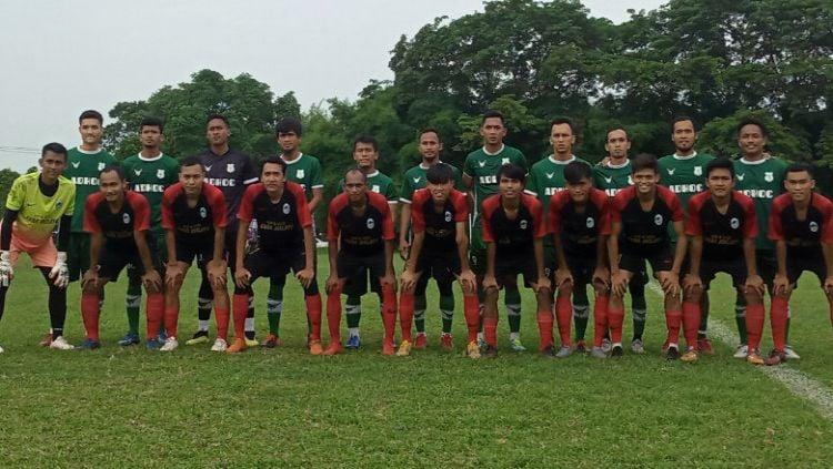 PSMS Medan melakukan laga uji coba dengan tim amatir Liga 3 Sumut, YOB Belawan, Kamis (10/06/21) petang. Copyright: © Media Officer PSMS