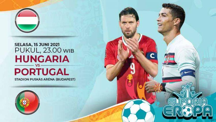 Link Live Streaming Pertandingan Grup F Euro 2020: Hungaria vs Portugal. Copyright: © Grafis:Yanto/Indosport.com