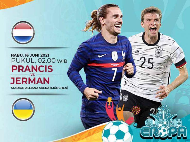 Duel Antarlini Prancis vs Jerman di Euro 2020: Tim Ayam Jantan Lebih Dominan?