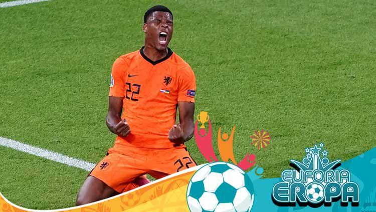 Mengenal lebih jauh sosok Denzel Dumfries, bek sayap muda milik Timnas Belanda yang mencetak gol kemenangan untuk timnya di laga Euro 2020 menghadapi Ukraina. Copyright: © Andre Weening/BSR Agency/Getty Images