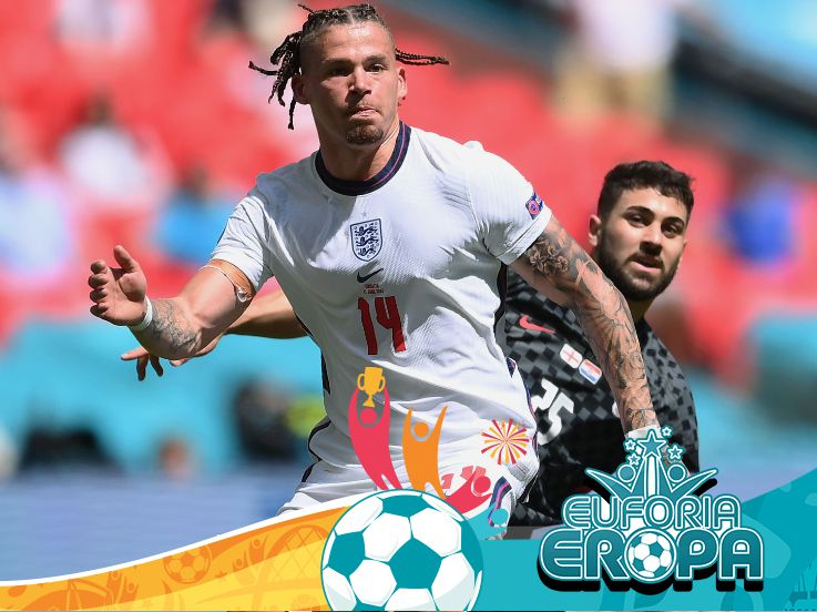 Man of The Match Euro 2020: Kalvin Phillips, Jelmaan Pirlo di Lini Tengah Inggris