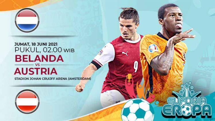 Pertandingan antara Belanda vs Austria (Euforia Eropa 2020). Copyright: © Grafis:Yanto/Indosport.com