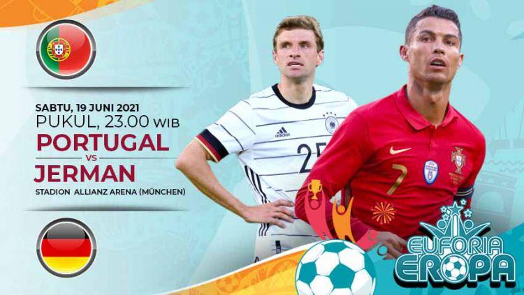 Prediksi pertandingan antara Portugal vs Jerman (Euforia Aropa 2020). Copyright: © Grafis:Yanto/Indosport.com