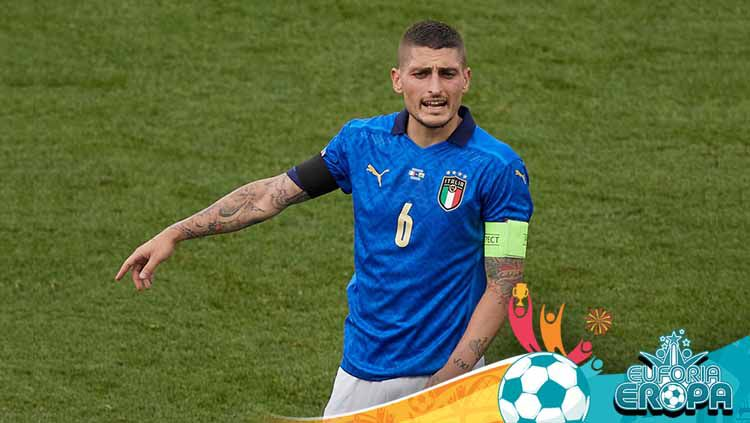 Marco Verratti, pemain Timnas Italia. Copyright: © Emmanuele Ciancaglini/Quality Sport Images/Getty Images