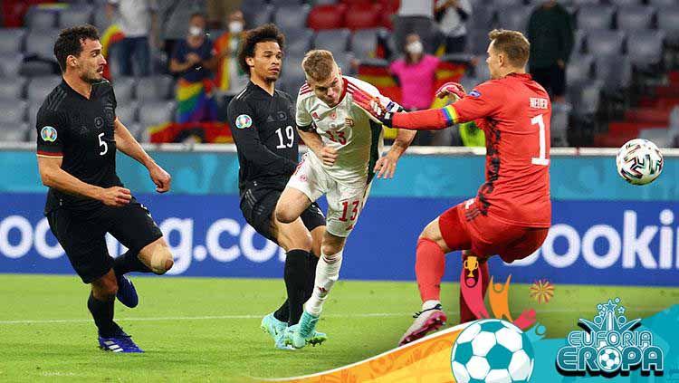 Timnas Jerman harus tersingkir dari Euro 2020 setelah mereka dikalahkan oleh Hungaria di laga terakhir Grup F Euro 2020. Copyright: © Getty Images