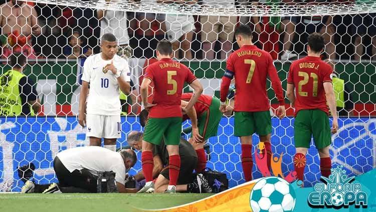 Laga pertandingan antara Portugal vs Prancis di Euro 2020. Copyright: © Getty Images