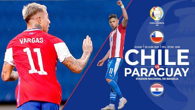 Prediksi pertandingan Copa America antara Chile vs Paraguay. Copyright: © Grafis:Yanto/Indosport.com