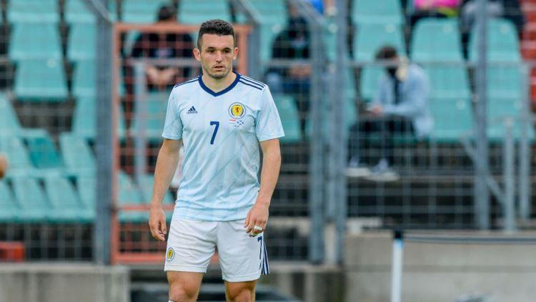 Pemain Timnas Skotlandia dan Aston Villa, John McGinn. Copyright: © Mario Hommes/DeFodi Images via Getty Images