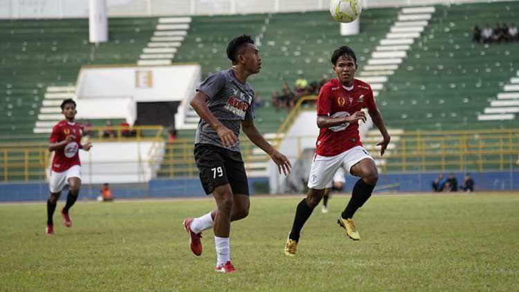Skuat PSMS Medan saat melakoni laga uji coba kontra tim sepak bola PON Aceh di Stadion Harapan Bangsa, Banda Aceh, Jumat (25/06/21) sore. Copyright: © Aldi Aulia Anwar/INDOSPORT