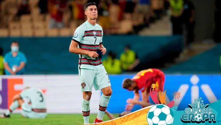 Cristiano Ronaldo diyakini kian tersiksa jelang terselenggaranya final Euro 2020 antara Italia vs Inggris. Copyright: © Thanassis Stavrakis - Pool/UEFA via Getty Images