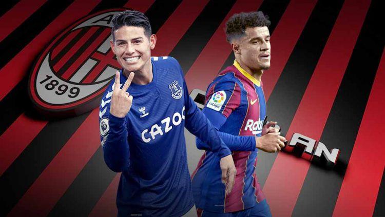 Philippe Coutinho dan James Rodriguez. Copyright: © Grafis:Yanto/Indosport.com
