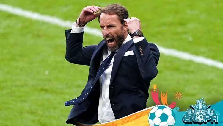 Secara mengejutkan pelatih Timnas Inggris, Gareth Southgate, meminta kepada para fansnya untuk menyoraki atau mencemooh Italia di final Euro 2020. Copyright: © Mike Egerton/PA Images via Getty Images