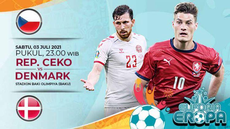 Prediksi Euro 2020 Ceko vs Denmark: Pembuktian Siapa Kuda Hitam Terbaik yang Layak ke Semifinal. Copyright: © Grafis:Yanto/Indosport.com