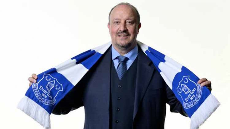 Pelatih baru Everton, Rafael Benitez. Copyright: © dailystar/Everton FC via Getty Images