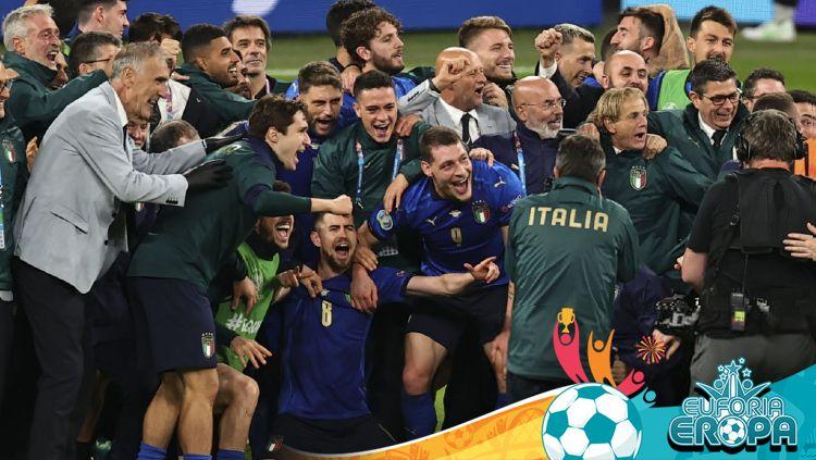 Italia langsung memberikan responsnya usai Inggris menghancurkan Denmark di semifinal Euro 2020. Copyright: © Ali Balikci/Anadolu Agency via Getty Images