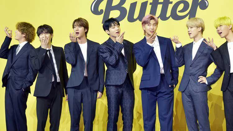 Boy band Korea Selatan, BTS. Copyright: © Chosunilbo JNS/Imazins via Getty Images
