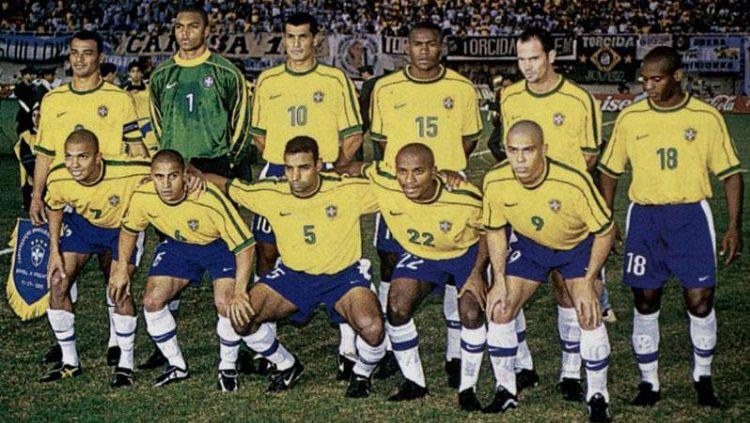 Skuat Brasil di final Copa America 1999. Copyright: © Conmebol