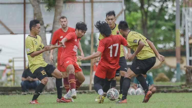 PSM Makassar menggelar uji coba sebagai pramusim Liga 1. Copyright: © Media PSM Makassar