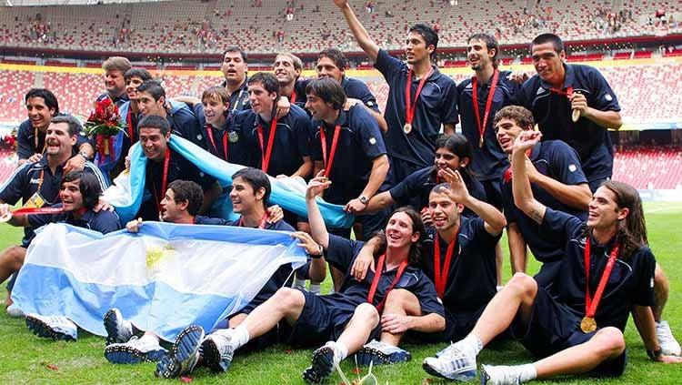Diperkuat Lionel Messi, Argentina sukses merebut medali emas di Olimpiade 2008. Bagaimana kabar skuat bertabur bintang asuhan Sergio Batista itu sekarang? Copyright: © Koji Watanabe/Getty Images
