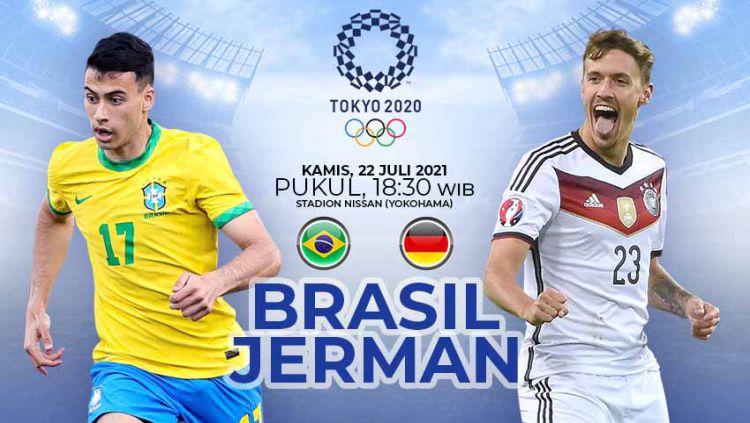 Pertandingan antara Brasil vs Jerman (Olimpiade Tokyo 2020) Copyright: © Grafis:Yanto/Indosport.com