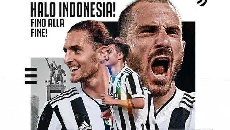 Postingan Juventus dengan Bahasa Indonesia Copyright: © instagram.com/juventus/