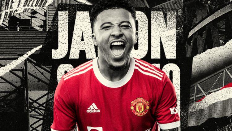 Jadon Sancho jadi pemain baru Manchester United Copyright: © twitter.com/ManUtd