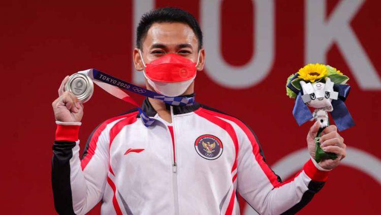 Lifter Indonesia, Eko Yuli Irawan di Olimpiade Tokyo 2020. Copyright: © NOC Indonesia